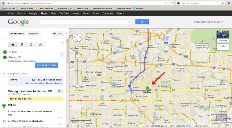 Iba Google Maps How To