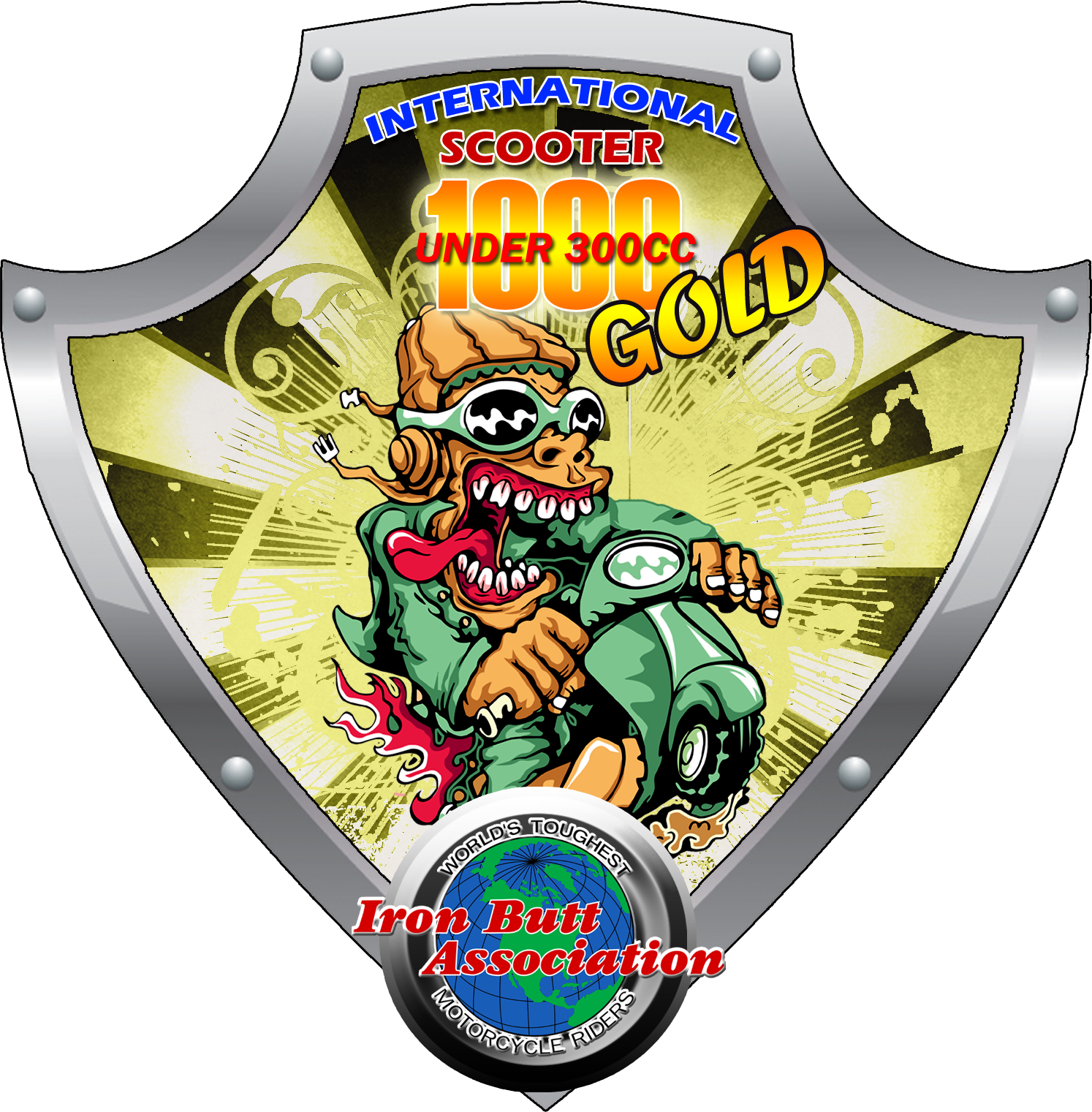Scooter 1000 Gold Logo